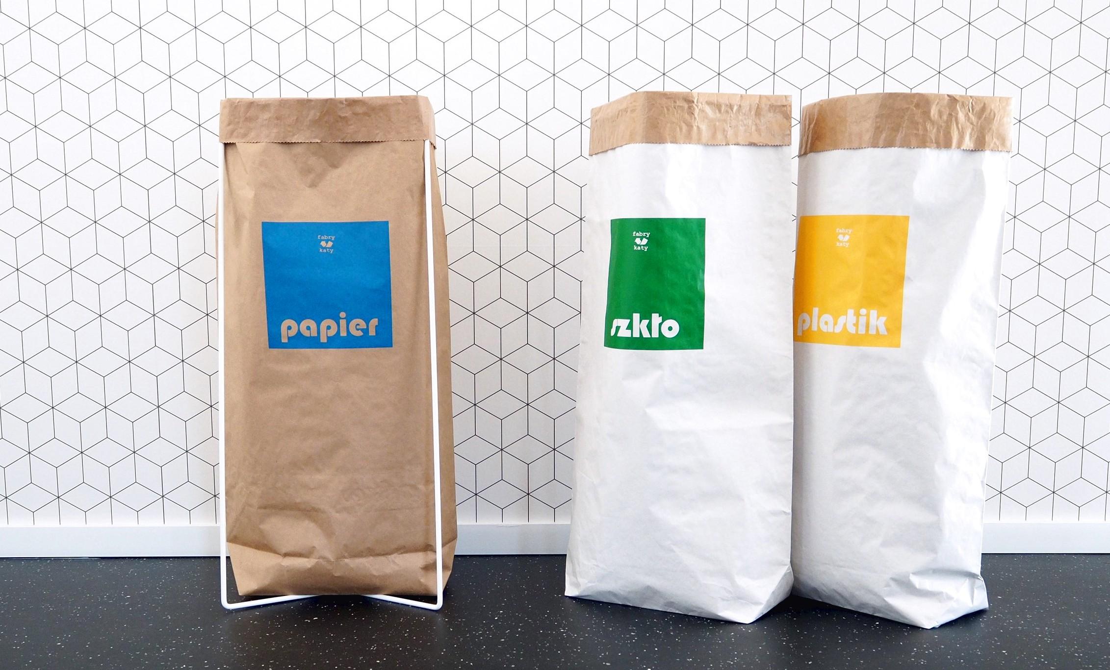 papierowe worki do segregacji śmieci